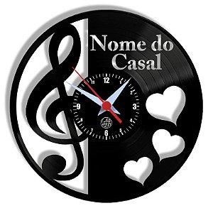 Relógio de Vinil - Casal Clave
