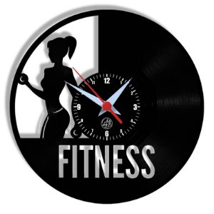 Relógio de Vinil - Fitness Academia Esporte