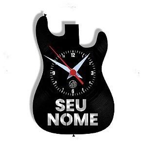 Relógio de Vinil - Guitarra Personalização