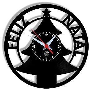 Relógio de Vinil - Natal Feliz Natal Jesus