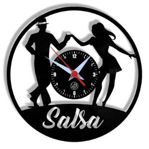 Relógio de Vinil - Dança Salsa