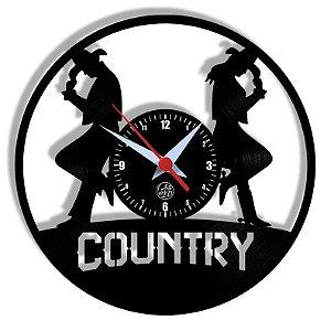 Relógio de Vinil - Dança Country