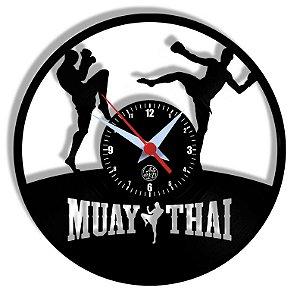 Relógio de Vinil - Esporte Muay Thai Artes Marciais