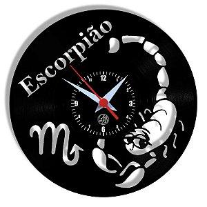 Relógio de Vinil - Signos Escorpião
