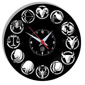 Relógio de Vinil - Signos