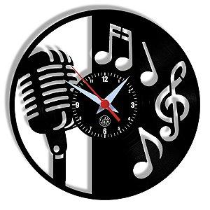 Relógio de Vinil - Microfone