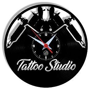 Relógio de Vinil - Tattoo Studio
