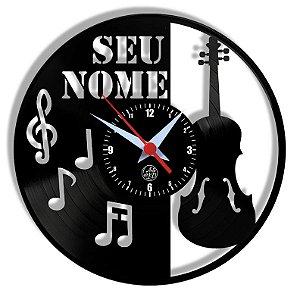 Relógio de Vinil - Violino Personalizado Instrumento