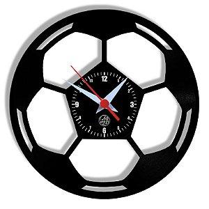 Relógio de Vinil - Bola De Futebol Esporte