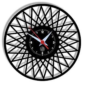 Relógio de Vinil - Geométrico Modelo2