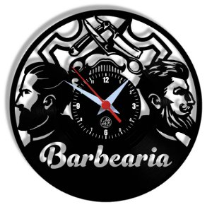 Relógio de Vinil - Barbearia Profissão
