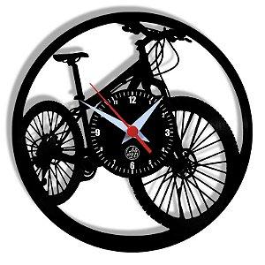 Relógio de Vinil - Bicicleta Mtb