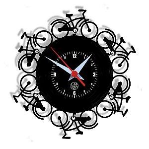 Relógio de Vinil - Bike