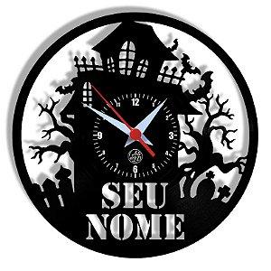 Relógio de Vinil - Halloween Personalizado