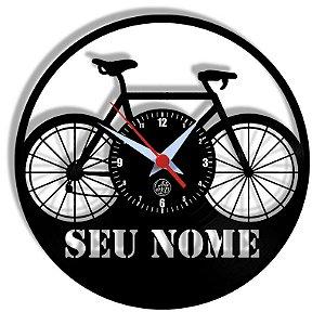 Relógio de Vinil - Bicicleta Personalizado