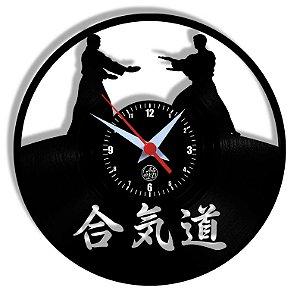 Relógio de Vinil - Esporte Aikido