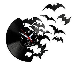 Relógio de Vinil - Morcegos Voando