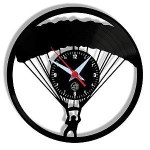 Relógio de Vinil - Paraquedas