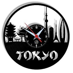 Relógio de Vinil - Tokio