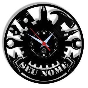 Relógio de Vinil - Oficina Nova