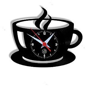 Relógio de Vinil - Cozinha Xícara