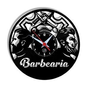 Relógio de Vinil - Barbearia