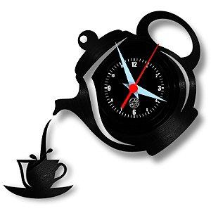 Relógio de Vinil - Bule Cozinha