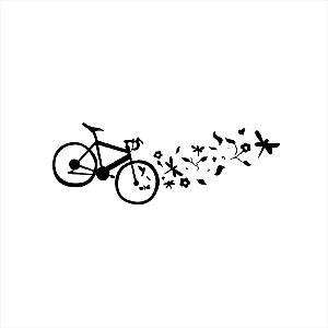 Adesivo - Bicicleta com Borboletas Natureza