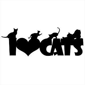Adesivo - I Love Cats Pets