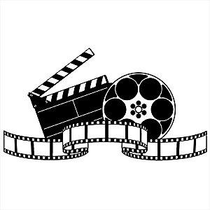 Adesivo - Rolo de Filme com Claquete Cinema
