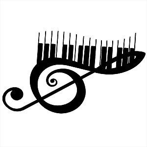 Adesivo - Clave de Sol com Piano Música