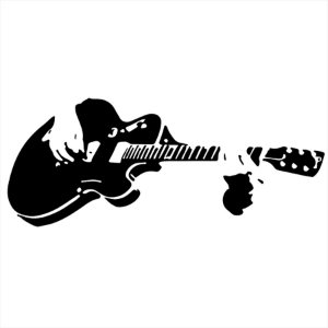 Adesivo - Guitarrista Tocando Música