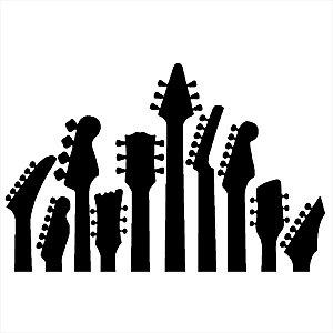 Adesivo - Braços de Guitarra Música