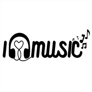 Adesivo - I Love Music Música