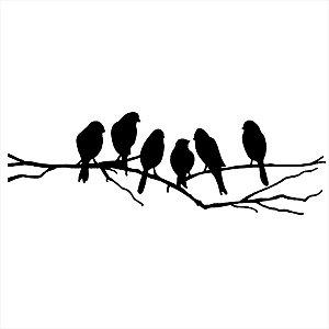 Adesivo - Pássaros nos galhos Natureza