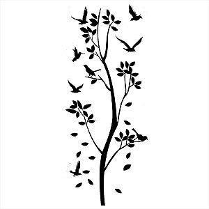 Adesivo - Árvore com Pássaros Natureza