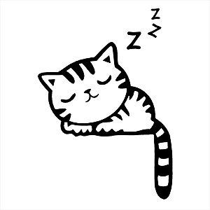 Adesivo - Gatinho Dormindo Pets