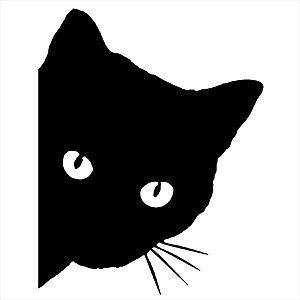 Adesivo - Gato Preto Pets