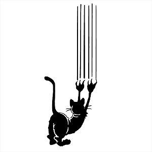 Adesivo - Gato Arranhando Pets