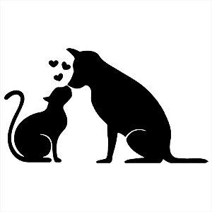 Adesivo - Gato E Cachorro Pets