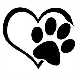 Adesivo - Cachorro Pata Coração Pets