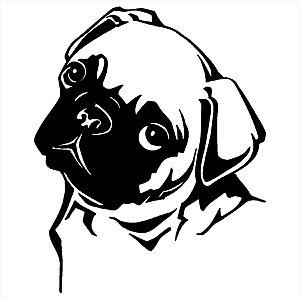Adesivo - Cachorro Pug Pets