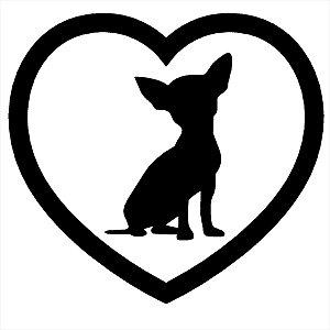 Adesivo - Cachorro Coração Pets