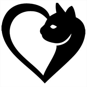 Adesivo - Coração Gato Pets
