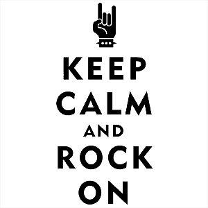 Adesivo - Keep Calm And Rock And Roll Música