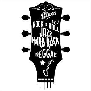 Adesivo - Guitarra Blues, Rock Etc Música