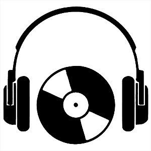 Adesivo - Fone Disco Música