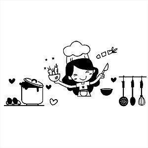 Adesivo - Cozinheira Cozinha