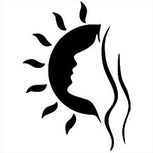 Adesivo - Mulher No Sol Natureza