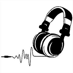 Adesivo - Fone Música